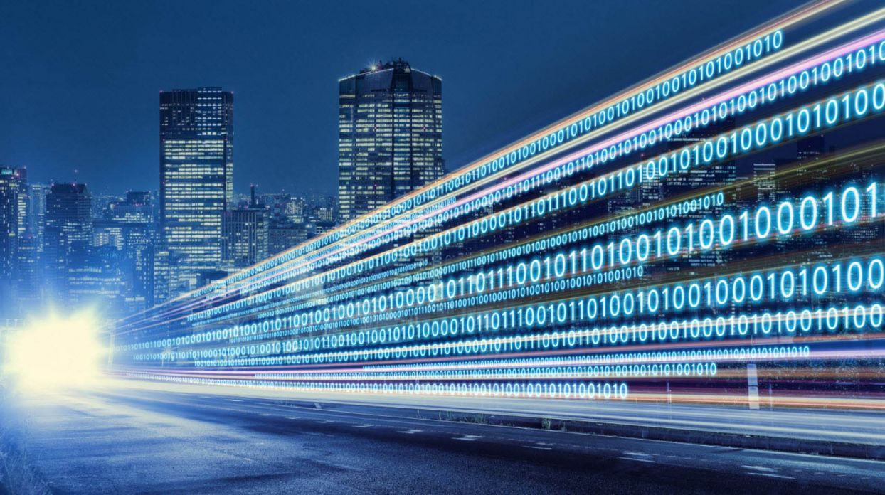 Speeding Your Digital Transformation Journey > Cityscape with Digital Numbers > Dassault Systemes®