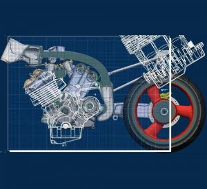Product Definition Using a Single 3D Dataset > Motorcycle > Dassault Systèmes®
