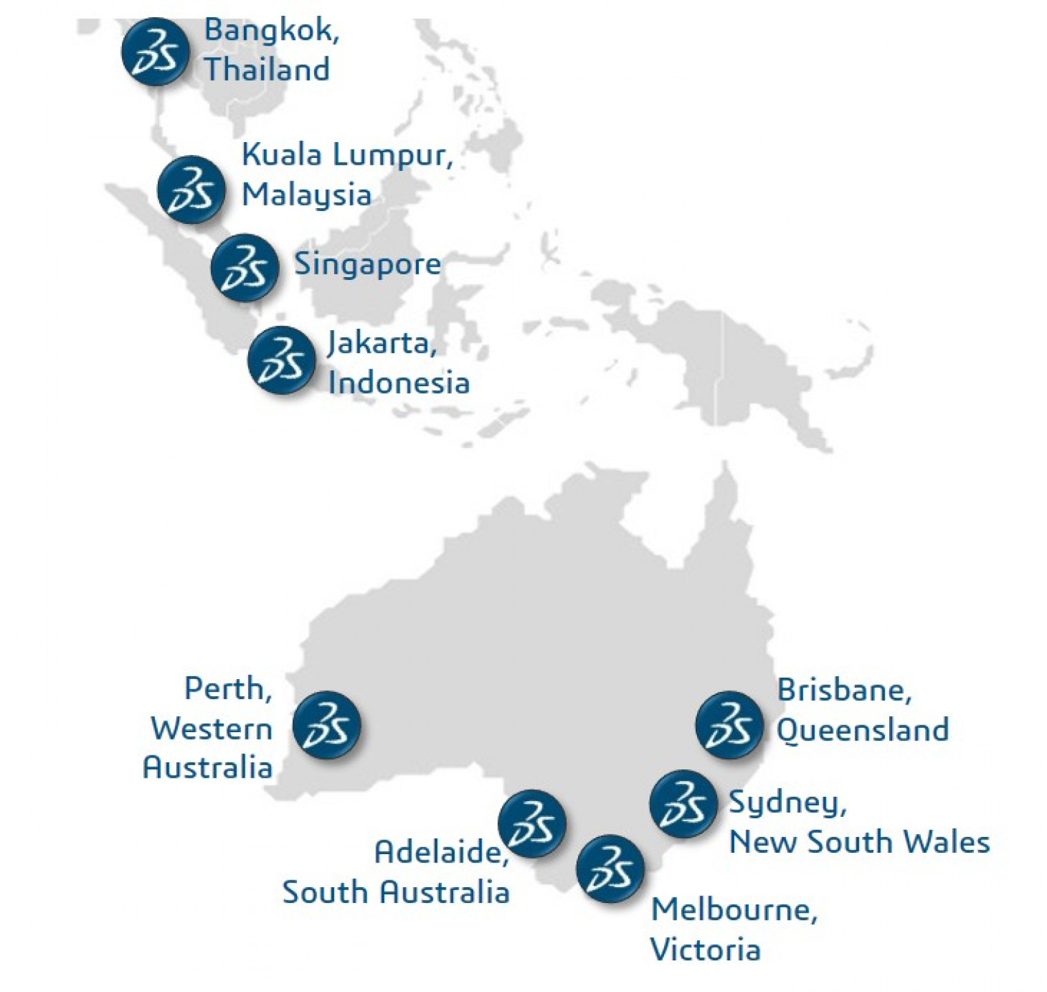 AP South map offices > Dassault Systèmes®
