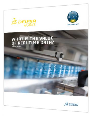 What is the value of real-time data from your shop floor > Asset cover > Dassault Systèmes®